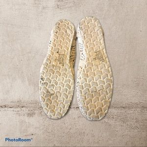 SO Shoes - SO Cream Knit Lace Flat Slip-Ons
